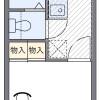 1K 아파트 to Rent in Yokohama-shi Kohoku-ku Floorplan