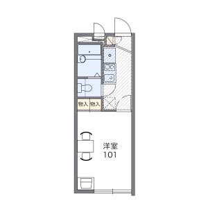 1K 아파트 in Hiyoshi - Yokohama-shi Kohoku-ku Floorplan