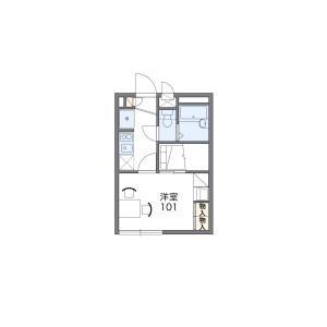 1K Apartment in Kuise kitashimmachi - Amagasaki-shi Floorplan