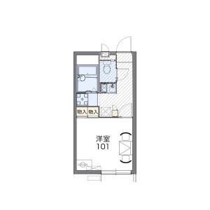 目黒区目黒本町-1K公寓 楼层布局
