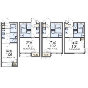 1K Apartment in Nakajimacho - Yokohama-shi Minami-ku Floorplan