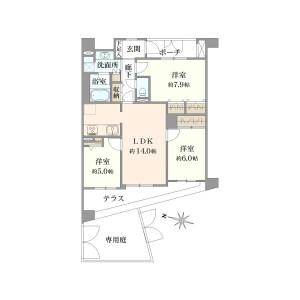3LDK {building type} in Horinochi - Suginami-ku Floorplan