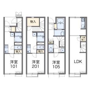 1K Apartment in Iikura - Fukuoka-shi Sawara-ku Floorplan