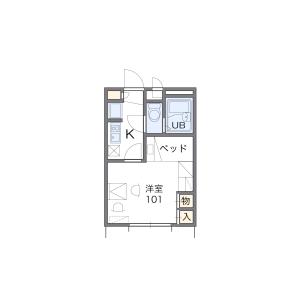 1K Apartment in Komeyacho - Kyoto-shi Kamigyo-ku Floorplan