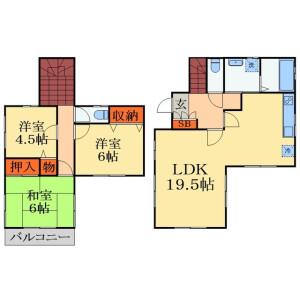 3LDK House in Warabi - Yotsukaido-shi Floorplan