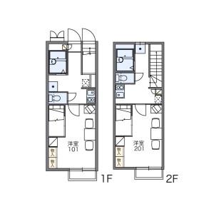 1K Apartment in Minamihanahata - Adachi-ku Floorplan