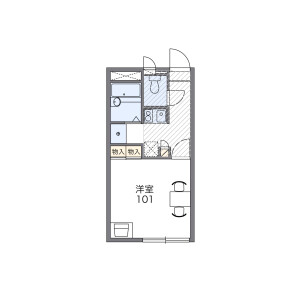 1K Apartment in Honcho - Nakano-ku Floorplan