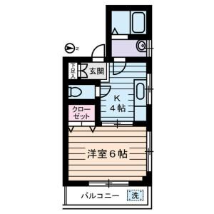 江东区大島-1K公寓大厦 楼层布局