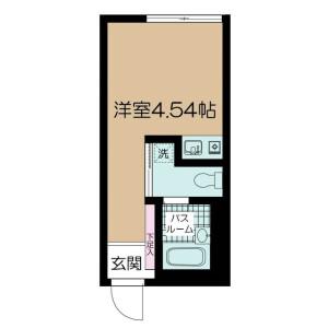 1R Apartment in Kamimeguro - Meguro-ku Floorplan