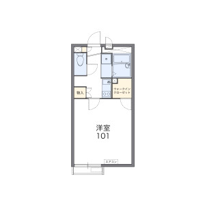 1K Apartment in Terabun - Kamakura-shi Floorplan