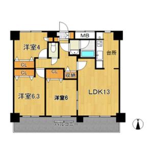 3LDK Mansion in Nakakasai - Edogawa-ku Floorplan