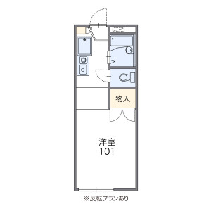 1K Apartment in Umegaoka - Nagoya-shi Tempaku-ku Floorplan